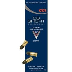 CCI .22 Conical Ball Short Rimfire Ammunition .22 Short 29 gr LRN 100/box - $8.91 (limit 5)