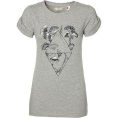 T-Shirt Castle peak print - Fashionchick. Print T Shirts, Coton Biologique, Castle, Artwork, Prints, Mens Tops, Fashion, Colour Gray, Grey