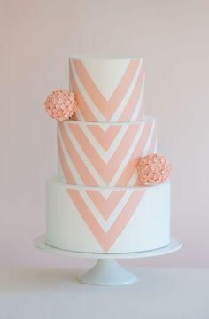 Chic chevron | Cake Central