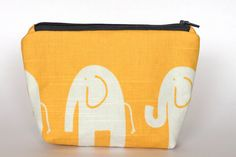Yellow Elephant Makeup Bag by vivileen on Etsy, $11.00