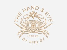graphic, hand eye, mason, logos design