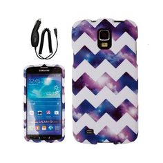 Purple Galaxy Cases with Car Charger for the S4 Active and more on eBay from Preferred Fashion Network  #Samsung