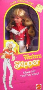 Barbie Doll Skipper Western 1981