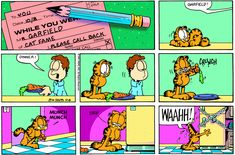 Garfield   Daily Comic Strip on October 8th, 1995