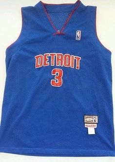 ... Jersey Devils Mitchell Ness Hardwood Classics NBA Detroit Pistons Ben  Wallace 3 Sz 7 Youth ... ab57343e5