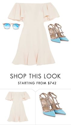 """""""Untitled #1170"""" by yurithisandthat ❤ liked on Polyvore featuring Valentino and Ray-Ban"""