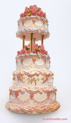 Discover the best ideas for Cake & Desserts! Read articles and watch videos about Cake & Desserts. Round Wedding Cakes, Wedding Cake Photos, Cake Wedding, Wedding Cupcakes, Gold Wedding, Elegant Wedding, Gorgeous Cakes, Pretty Cakes, Amazing Cakes