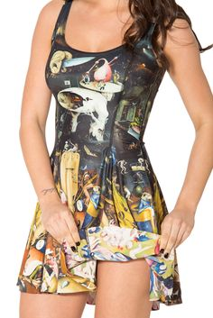 Unearthly vs Earthly Delights Inside Out Dress - LIMITED (WW $170AUD / US $165USD) by Black Milk Clothing
