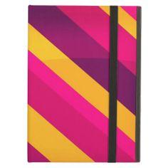Magenta Stripes Case For iPad Air