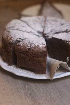 chocolate cake to prepare the day before - Recipe - Cake-Kuchen-Gateau Sweet Recipes, Cake Recipes, Dessert Recipes, French Recipes, Italian Wedding Cakes, Cupcakes, Food Cakes, Chocolate Cake, Chocolate Pudding