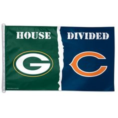 GREEN BAY PACKERS / CHICAGO BEARS House Divided Flag 3' X 5'