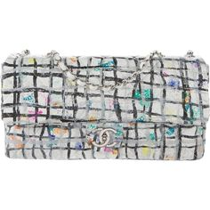 Pre-owned Chanel Hand Painted Graffiti Flap Bag ($3,400) ❤ liked on Polyvore featuring bags, handbags, white, woven purse, chain purse, handbag purse, chanel and hand woven bags