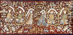 DI 76 (Lüneburger Klöster) Kloster Isenhagen 2. H. 15. Jh.    Signatur: DI 76, Nr. 69    Antependium.1) Seidenstickerei auf rotbraunem Grund. Das Antependium ist im Museum ausgestellt. Dargestellt ist der Hortus conclusus, zwischen Rankenornament unten Löwen und Rehwild, in der Mitte Maria mit dem Einhorn und der Erzengel Gabriel mit Hund, der Engel mit dem Schriftband A, Maria mit dem Schriftband B. Eingerahmt werden beide von je zwei aus Rankenwerk wachsenden Königen in Halbfigur, die…