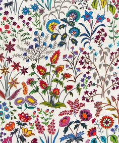 Liberty Art Fabrics Shepherdly Flowers in Exotic Cotton Cushion | Home | Liberty.co.uk