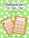FREE!  Hallowe'en Tic-Tac-Toe product from Sister-Prints on TeachersNotebook.com