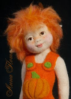 Needle felted doll Imp. Art Doll Autor doll Collectible by AnnPot