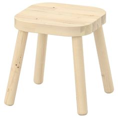 "FLISAT Children's stool, 9 1/2x9 1/2x11"". The smart construction makes this stool easy to assemble, even a three-year old could do it – with a little help from a grown-up. A practical size for smaller bottoms."