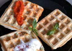 Sajtos gofri🧀 | Annamaria Gliga receptje - Cookpad receptek Waffles, Pancakes, Breakfast, Food, Morning Coffee, Essen, Waffle, Pancake, Meals