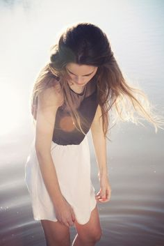 soft and flowy hair, skirt and shirt...i want.