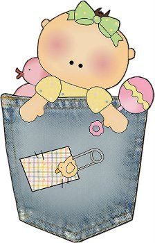 Dibujos. Clipart. Digi stamps - Bebé baby shower para imprimir