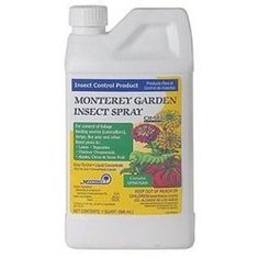 Monterey LG6135 Garden Insect Spray Contains Spinosad, 32-Ounce by Monterey. $24.68. Monterey garden insect spray contains spinosad. The newest agricultural chemistry to be introduced into the homeowner market. For use on ornamentals and edible plants up to the day of harvest. Also controls broadleaf weeds. A bacterial product produced by fermentation. A bacterial product produced by fermentation. Can be used on outdoor ornamentals, lawns, vegetables, fruit trees, etc...