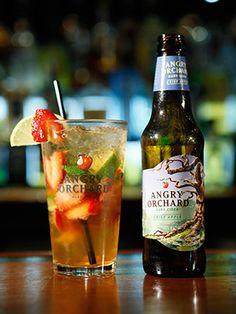 A Strawberry Hard Apple Cider Cocktail #SELFmagazine