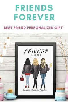 Can't figure out what to buy for that ride-or-die friend? Need a Birthday Gift, Holiday Gift, Going Away Gift or Long-Distance Friendship Gift? Well, this personalized friends wall art/wall decor would put a smile on their face. Let them know that you value their friendship. You're friends forever. Click the link to start creating your one-of-a-kind gift. Best Friend Gifts, Best Friends, Personalized Wall Decor, Personalised Gifts For Friends, Moving Away Gifts, Unique Birthday Gifts, Best Friend Birthday, Friendship Gifts, Friends Forever