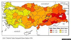Turkey fertility rate by province 1980