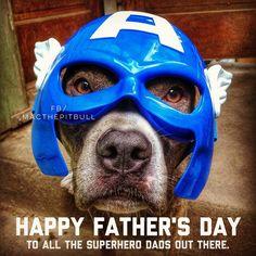#happyfathersday #dadday #iampitbullstrong #iamMac #macsmission #superhero #mac #superdog