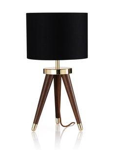 Gold & Black! Tribe Tripod Table Light | M&S