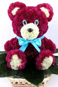 Valentine's Day Flowers. Flower Teddy Bear https://www.facebook.com/FloralPlush
