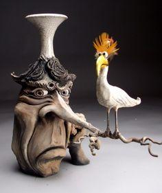 O Mundo Divertido das esculturas de cerâqmica de Mitchell Grafton