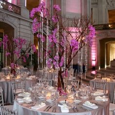 Different textures in the center pieces