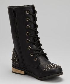 Black Studded Abby Boot | zulily