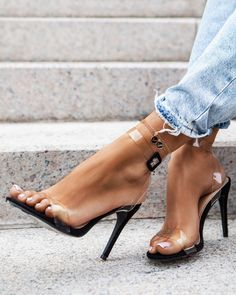 b0993475246 Czarne transparentne sandałki Love Touch w sklepie
