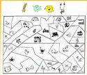 Coloriage magique avec les Alphas Voyelles Alphabet, Cycle 1, Grande Section, Montessori, School, Reading Activities, Classroom Games