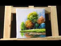 How to paint trees and bushes in acrylics  part 3 - YouTube