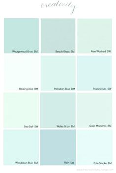 Coastal Paint Color Schemes Inspired from the Beach - Home: Living color Coastal Paint Colors, Beachy Colors, Green Paint Colors, Paint Color Schemes, Bedroom Paint Colors, Paint Colors For Home, Wall Colors, Turquoise Paint Colors, Aqua Paint