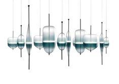 modern novel gradient crystal glass flow(t) led pendant light for living room dining room bar restaurant decor 1872
