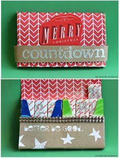 Christmas Kids Craft Gum Advent Calendar for Christmas Countdown #GiveExtraGum #shop