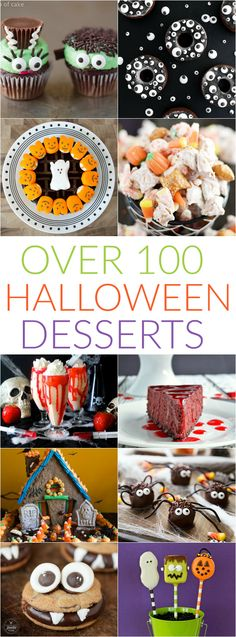 More than 100 spooky treats like Eyeball Donuts, Frankenstein Cupcakes, and Ghoulish Chocolate Bark.