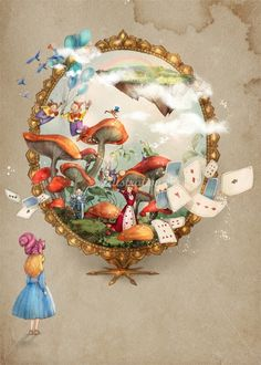 Vietnamese artist Turine Tran illustrations are full of whimsical lines and forms. Browse Turine Tran's imaginative children's illustrations Alice In Wonderland 1, Caricature Artist, Fairytale Art, Disney Scrapbook, Disney Crafts, Character Illustration, Book Illustration, Bunt, Amazing Art