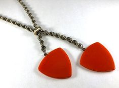 Your place to buy and sell all things handmade Unique Jewelry, Vintage Jewelry, Geometric Graphic, Plastic Jewelry, Metal Chain, Dog Tag Necklace, Handmade Gifts, Pendant Necklace