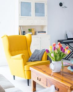 Yellow chair  #mintyhouse