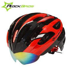 ROCKBROS Hot Selling Popular Integrally-molded Cycling Helmet + Sunglasses with 3 Lenses Road Bike MTB Bicycle Helmet 8 Colors