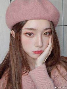Pretty Korean Girls, Cute Korean Girl, Beautiful Asian Girls, Korean Makeup Look, Asian Makeup, Korea Makeup, Ulzzang Korean Girl, Girls Makeup, Girl Face