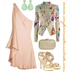 Halston dress. Color Rosa, All About Fashion, Fashion Dresses, Street Style, My Style, Womens Fashion, Polyvore, Clothes, Outfit Combinations