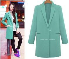 Turn-down Collar Pure Color Casual Plus Size Wool Coat
