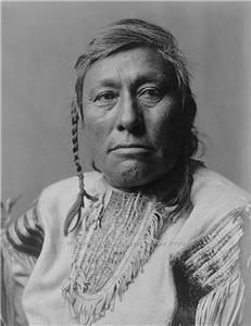Black White Photo Native American Indian Chief Long Time Dog
