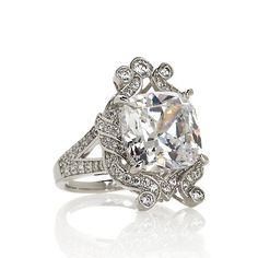 """Jean Dousset 8.88ct Absolute™ """"Crown"""" Cocktail Ring - statement ring!"""